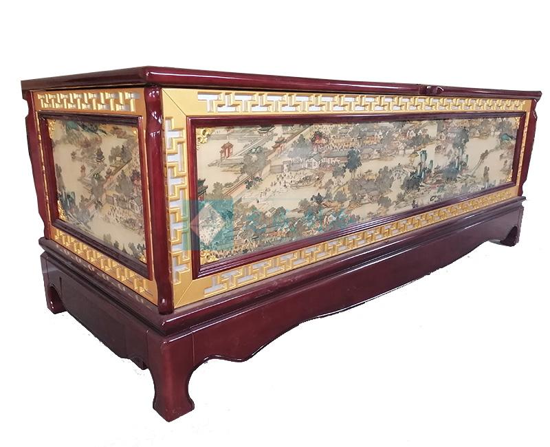 实木水晶棺